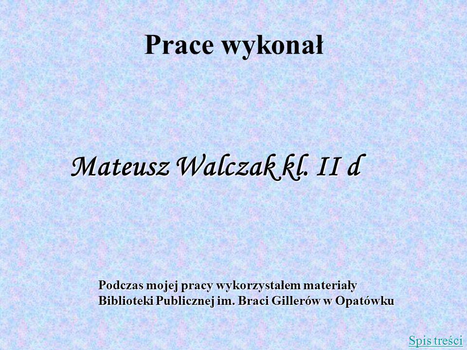 Mateusz Walczak kl. II d Prace wykonał