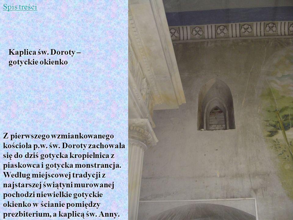 Spis treści Kaplica św. Doroty – gotyckie okienko.