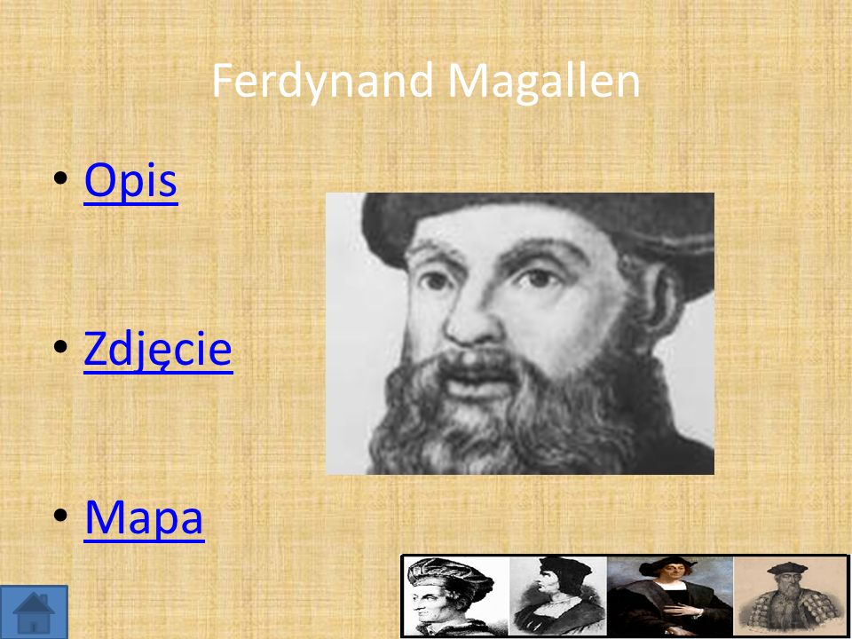 Ferdynand Magallen Opis Zdjęcie Mapa