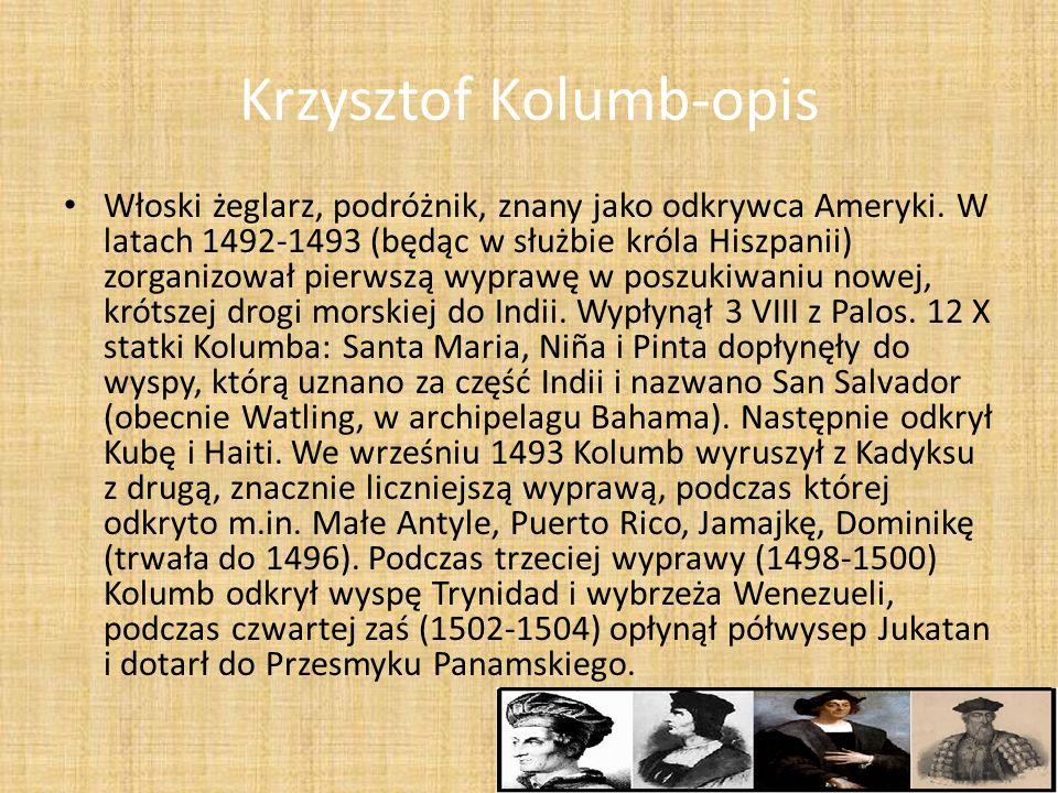 Krzysztof Kolumb-opis