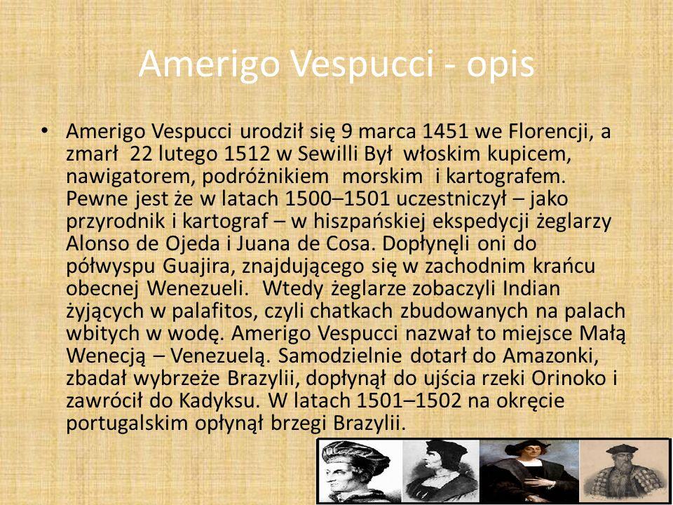Amerigo Vespucci - opis