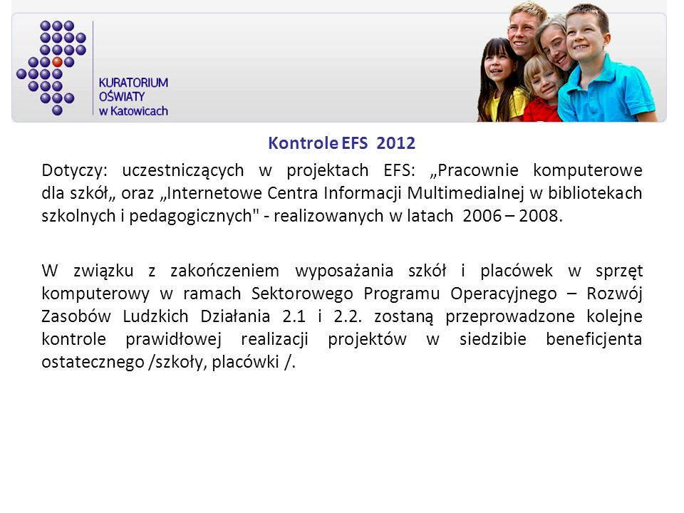 Kontrole EFS 2012