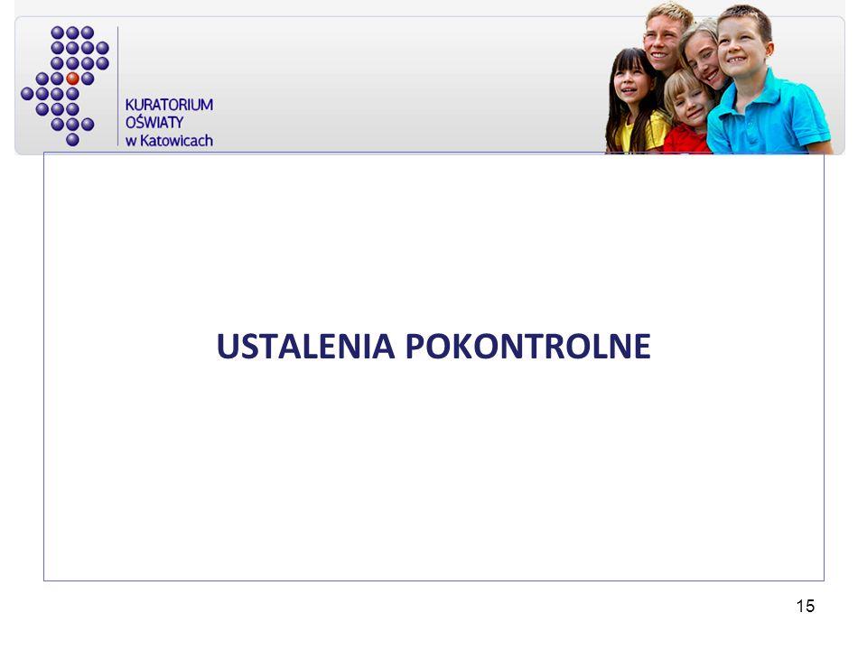 USTALENIA POKONTROLNE