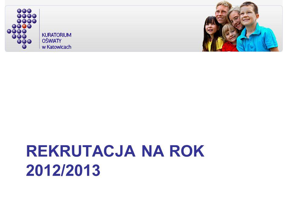 Rekrutacja na rok 2012/2013