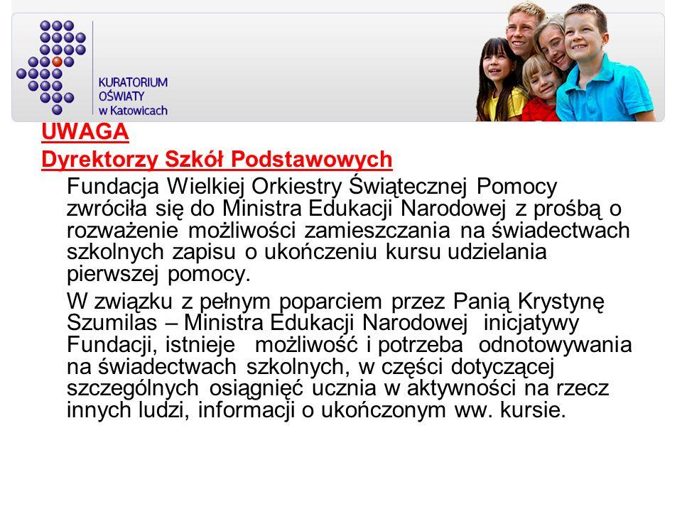 UWAGA Dyrektorzy Szkół Podstawowych.