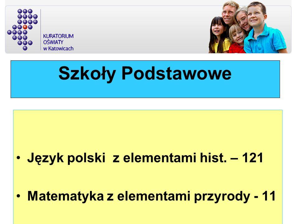Szkoły Podstawowe Język polski z elementami hist. – 121