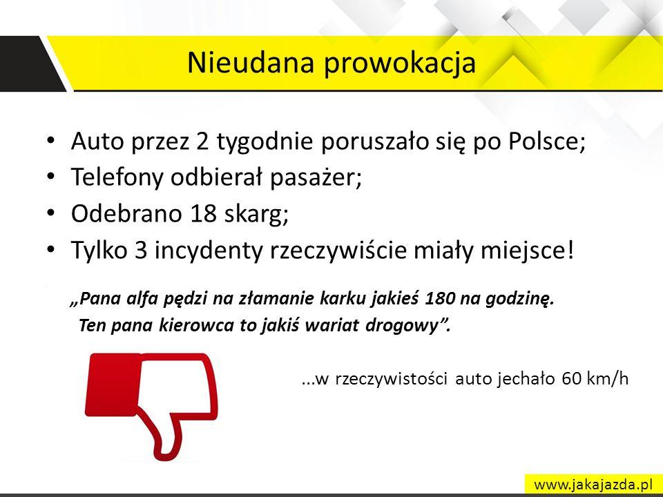 Nieudana prowokacja Auto przez 2 tygodnie poruszało się po Polsce;