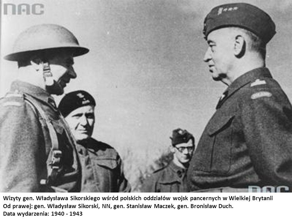Wizyty gen. Władysława Sikorskiego wśród polskich oddziałów wojsk pancernych w Wielkiej Brytanii