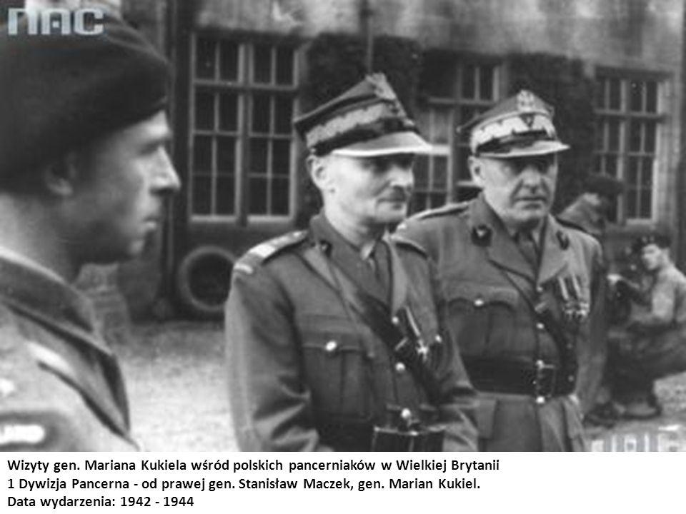 Wizyty gen. Mariana Kukiela wśród polskich pancerniaków w Wielkiej Brytanii