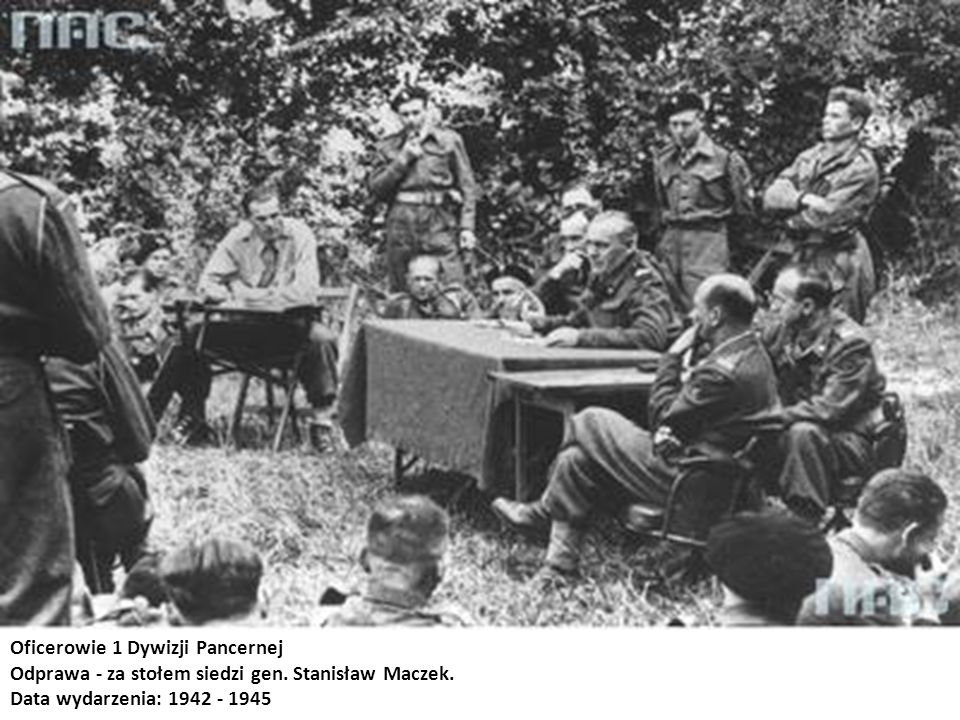 Oficerowie 1 Dywizji Pancernej