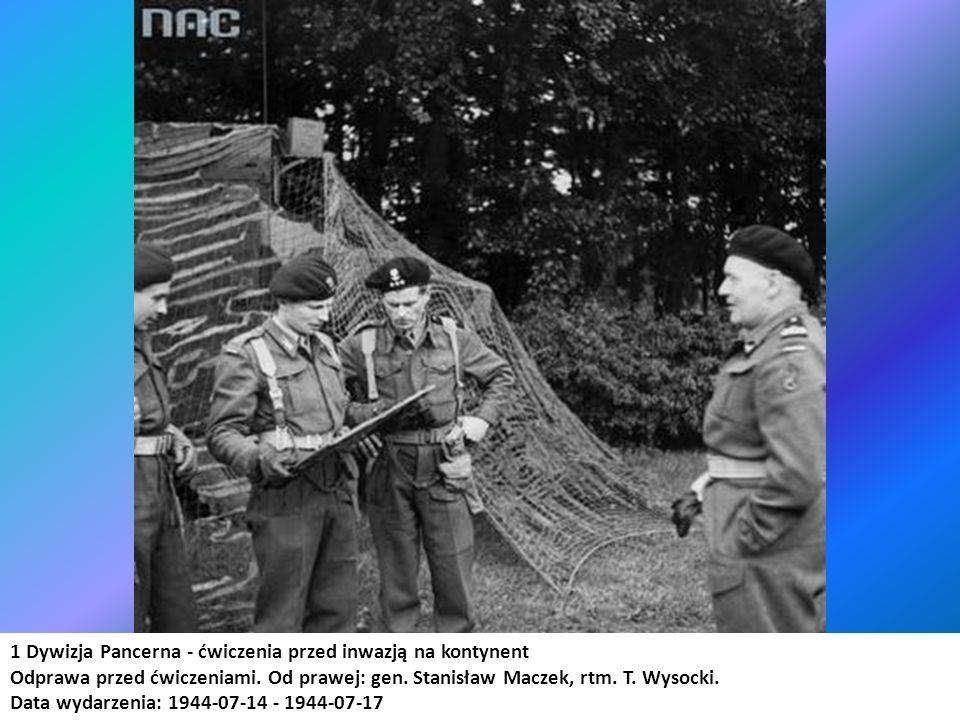 1 Dywizja Pancerna - ćwiczenia przed inwazją na kontynent