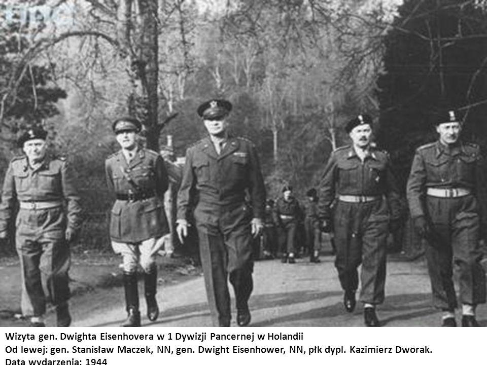 Wizyta gen. Dwighta Eisenhovera w 1 Dywizji Pancernej w Holandii