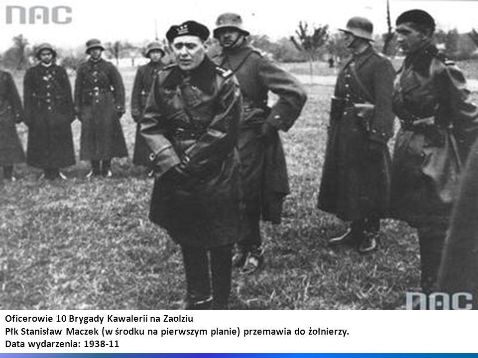 Oficerowie 10 Brygady Kawalerii na Zaolziu