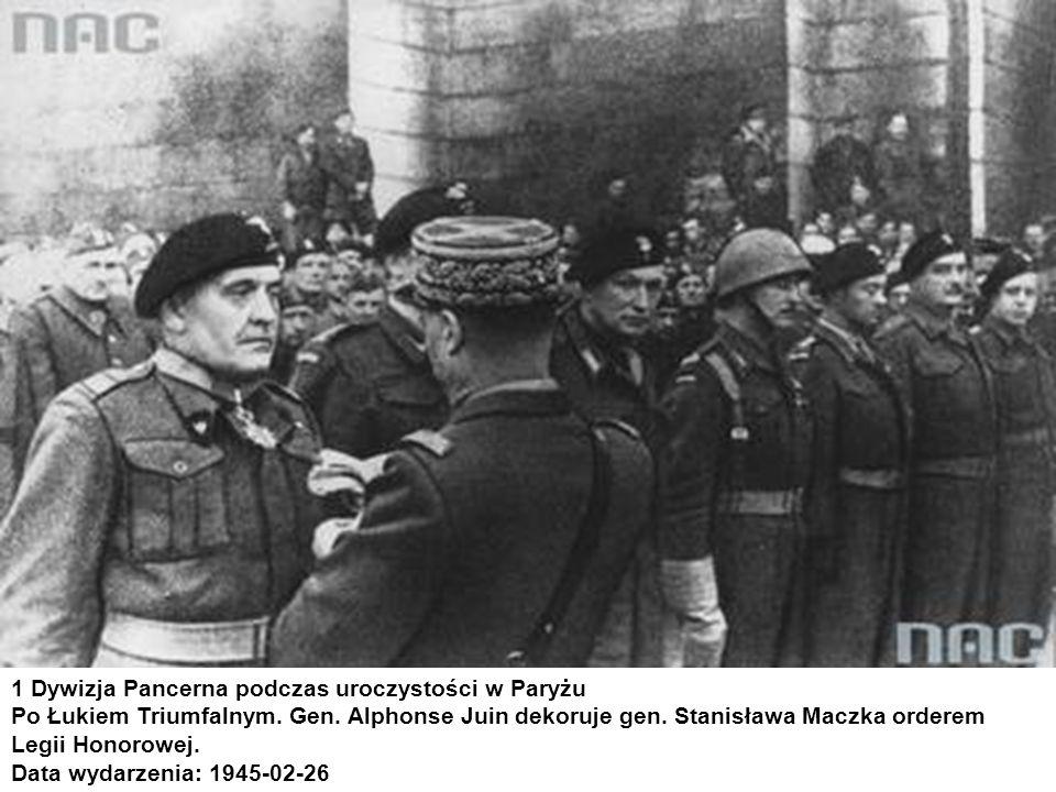 1 Dywizja Pancerna podczas uroczystości w Paryżu