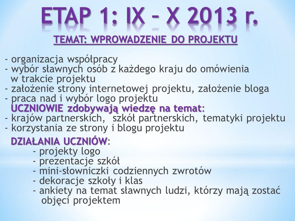 ETAP 1: IX – X 2013 r.