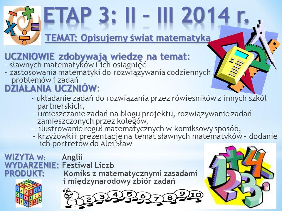 ETAP 3: II – III 2014 r.