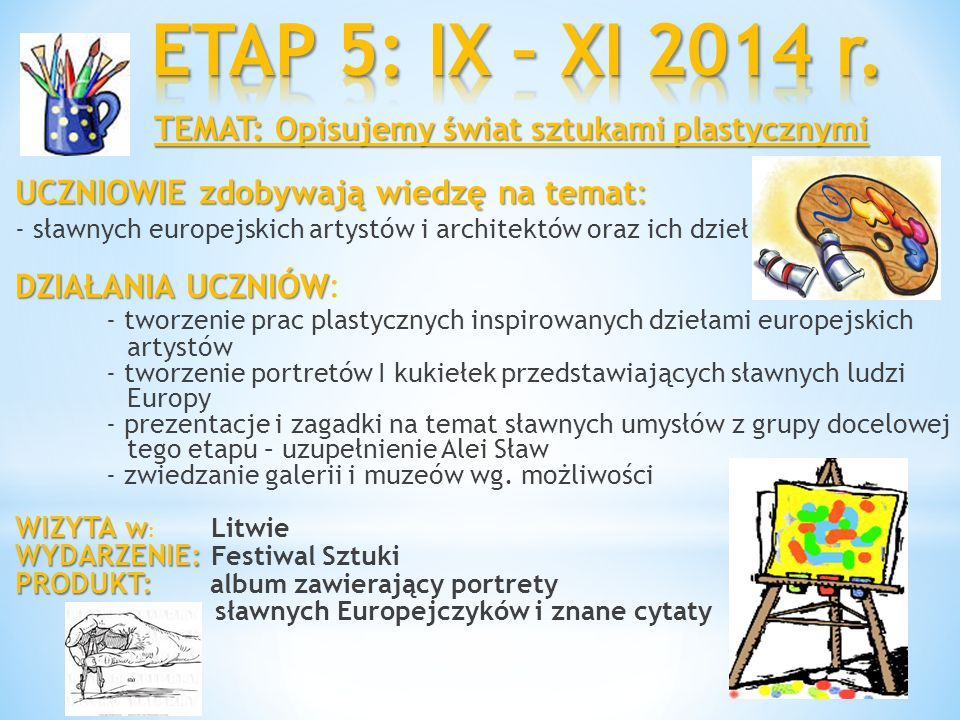 ETAP 5: IX – XI 2014 r.