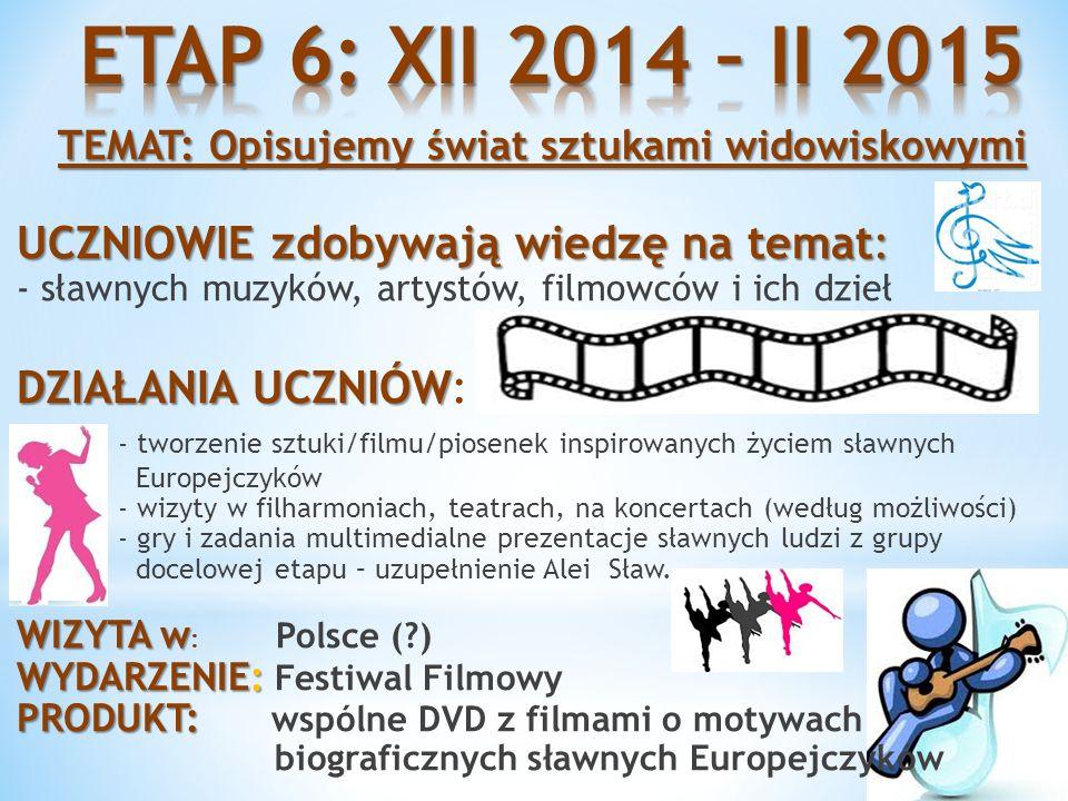 ETAP 6: XII 2014 – II 2015