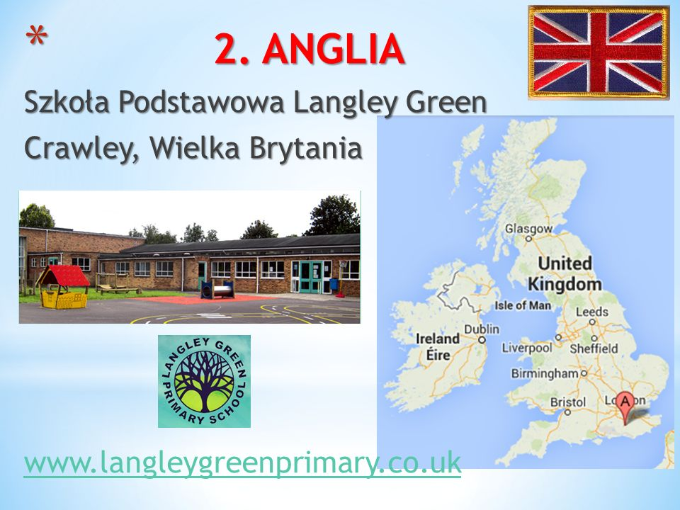 2. ANGLIA Szkoła Podstawowa Langley Green Crawley, Wielka Brytania