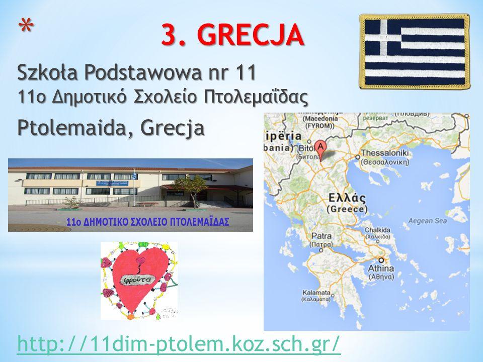 3. GRECJA Szkoła Podstawowa nr 11 11ο Δημοτικό Σχολείο Πτολεμαΐδας