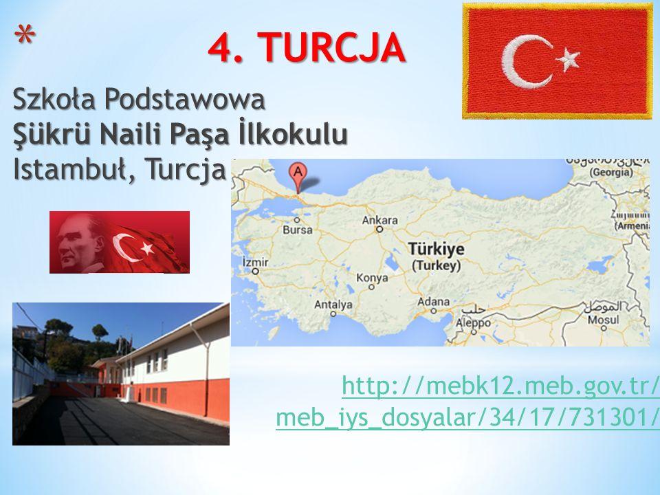 4. TURCJA Szkoła Podstawowa Şükrü Naili Paşa İlkokulu Istambuł, Turcja