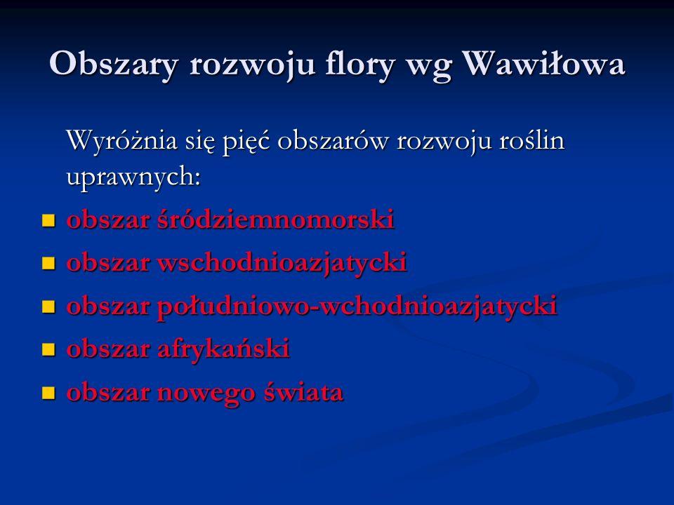 Obszary rozwoju flory wg Wawiłowa