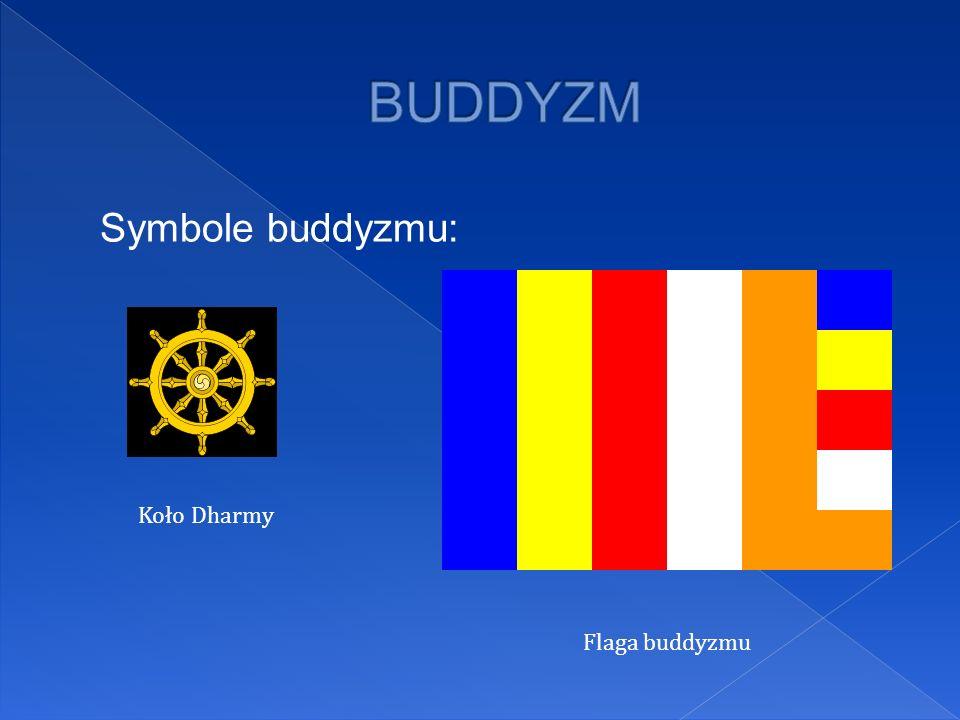BUDDYZM Symbole buddyzmu: Koło Dharmy Flaga buddyzmu
