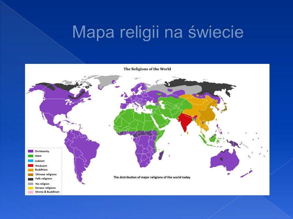 Mapa religii na świecie