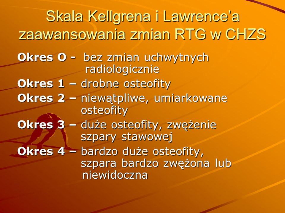 Skala Kellgrena i Lawrence'a zaawansowania zmian RTG w CHZS