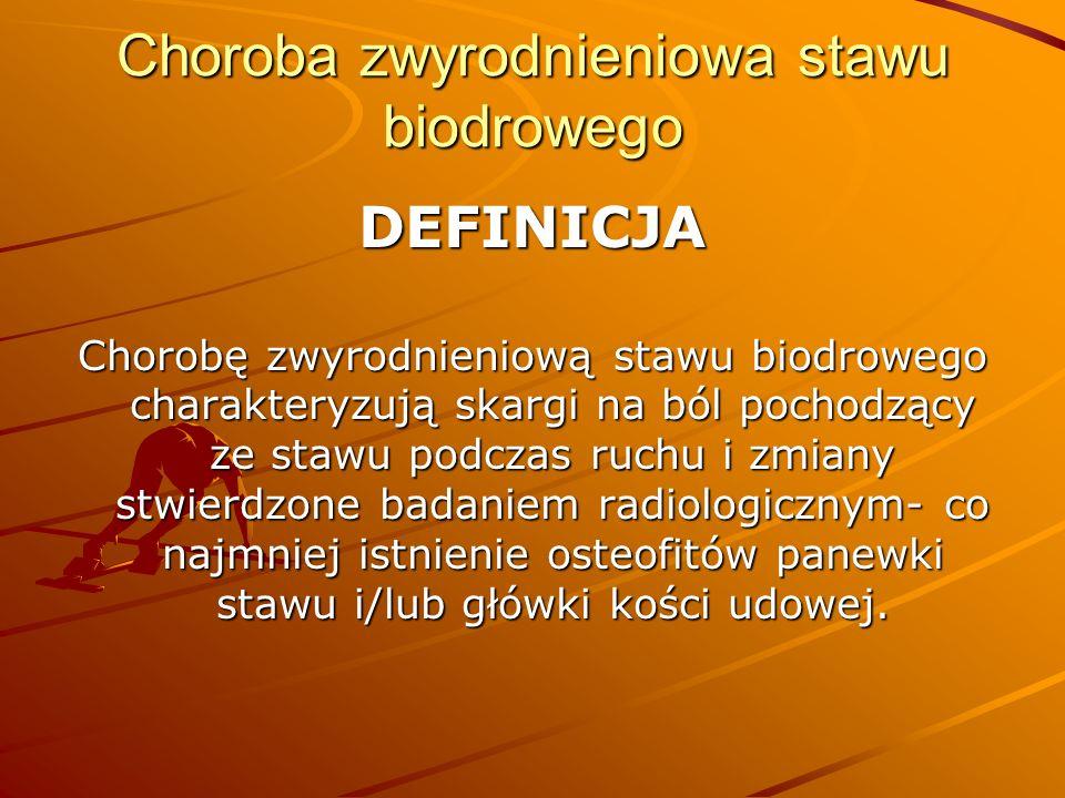 Choroba zwyrodnieniowa stawu biodrowego