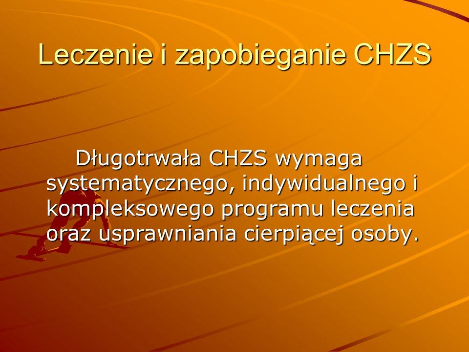 Leczenie i zapobieganie CHZS