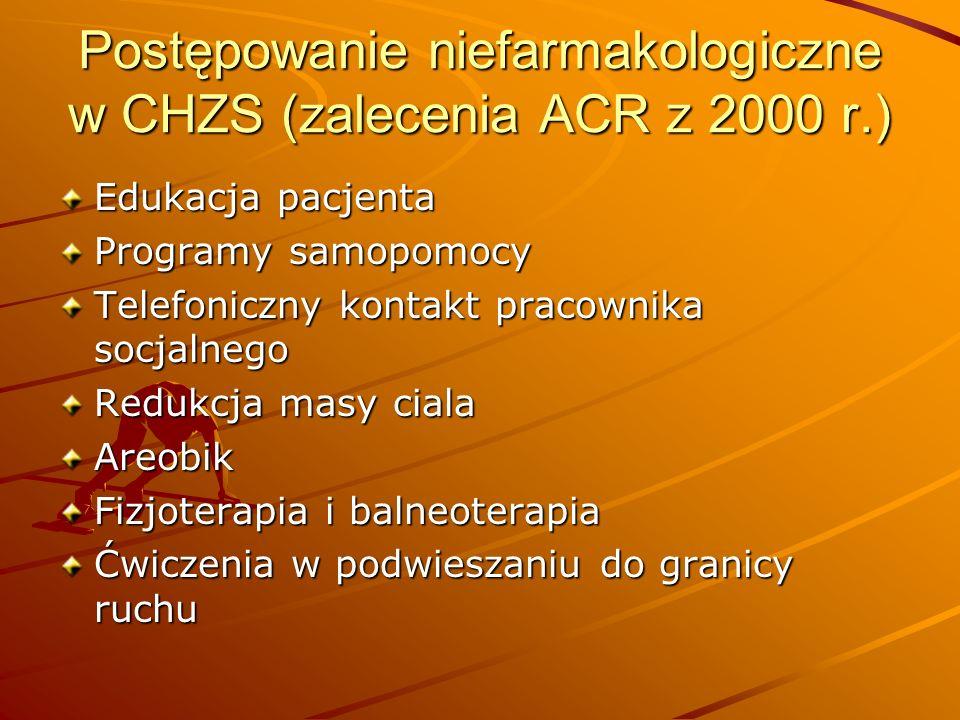 Postępowanie niefarmakologiczne w CHZS (zalecenia ACR z 2000 r.)