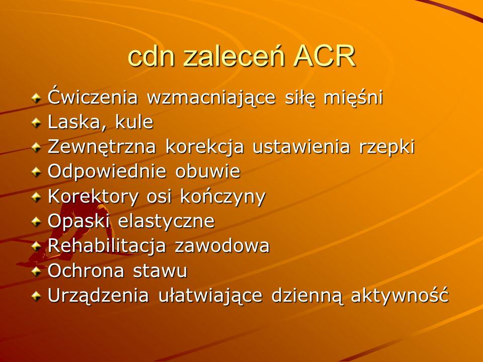 cdn zaleceń ACR Ćwiczenia wzmacniające siłę mięśni Laska, kule