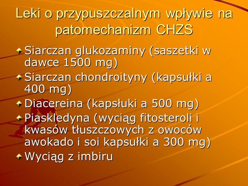 Leki o przypuszczalnym wpływie na patomechanizm CHZS