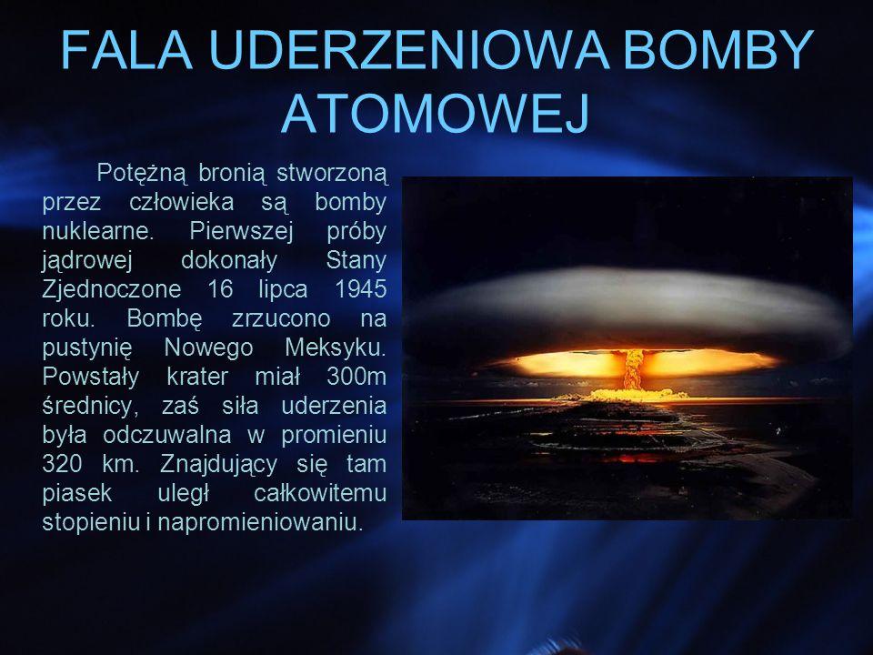 FALA UDERZENIOWA BOMBY ATOMOWEJ