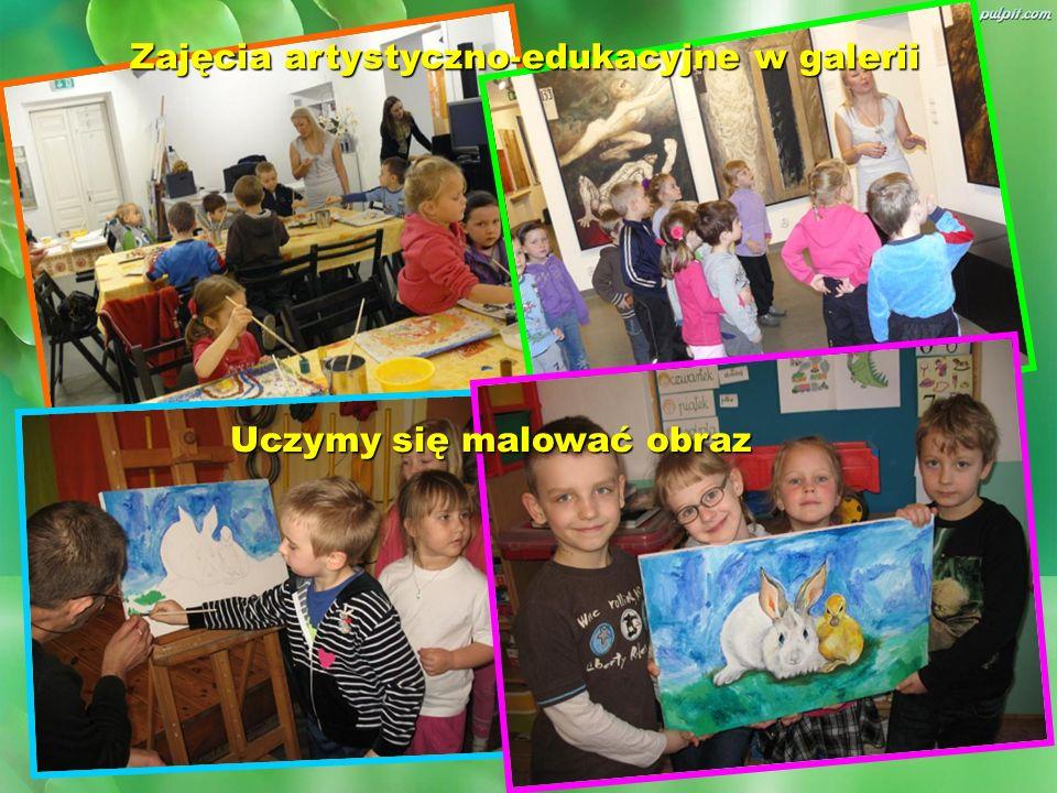 Zajęcia artystyczno-edukacyjne w galerii Uczymy się malować obraz