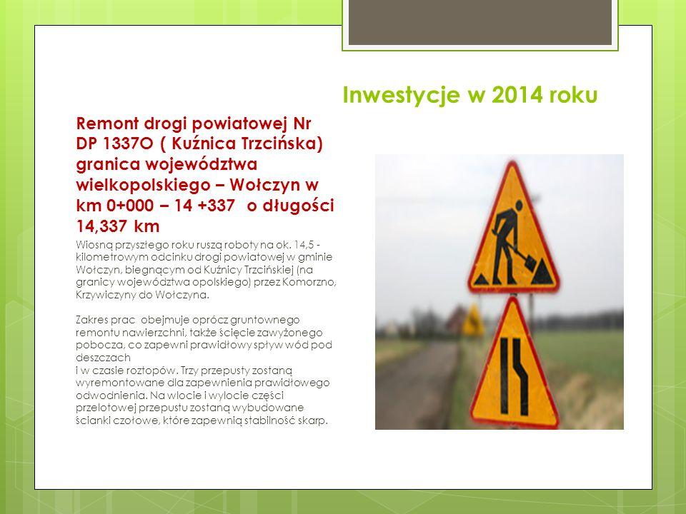 Inwestycje w 2014 roku