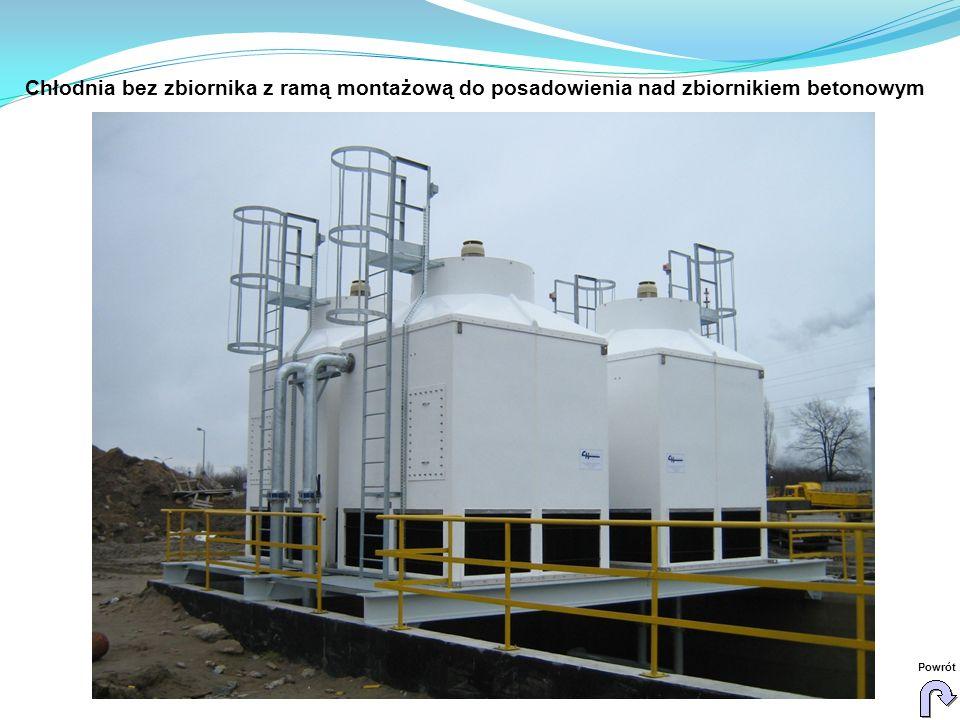 Chłodnia bez zbiornika z ramą montażową do posadowienia nad zbiornikiem betonowym