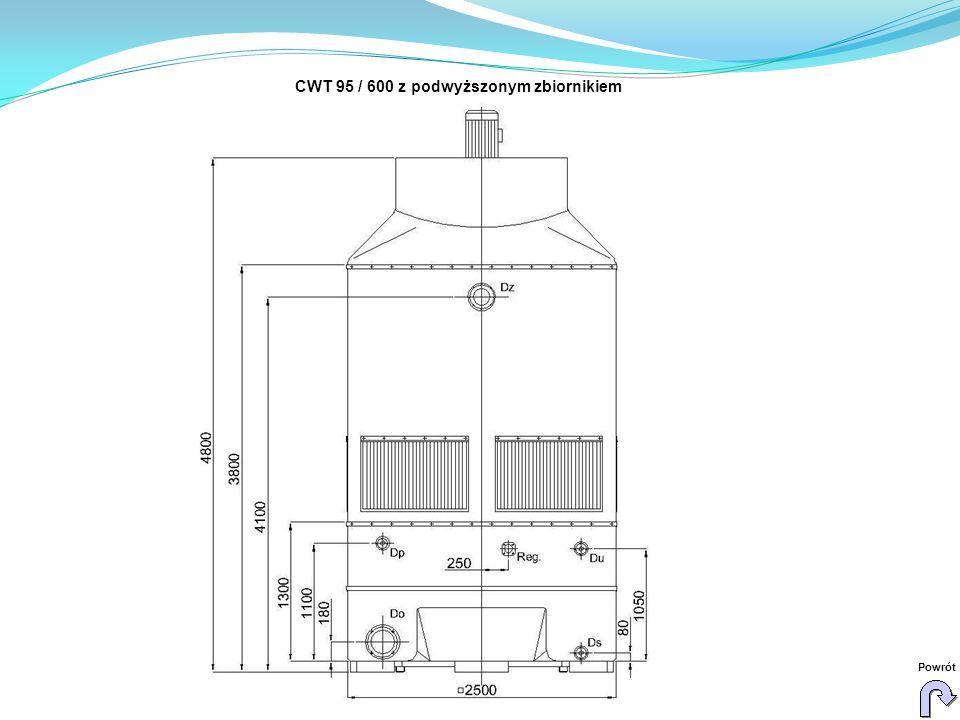 CWT 95 / 600 z podwyższonym zbiornikiem