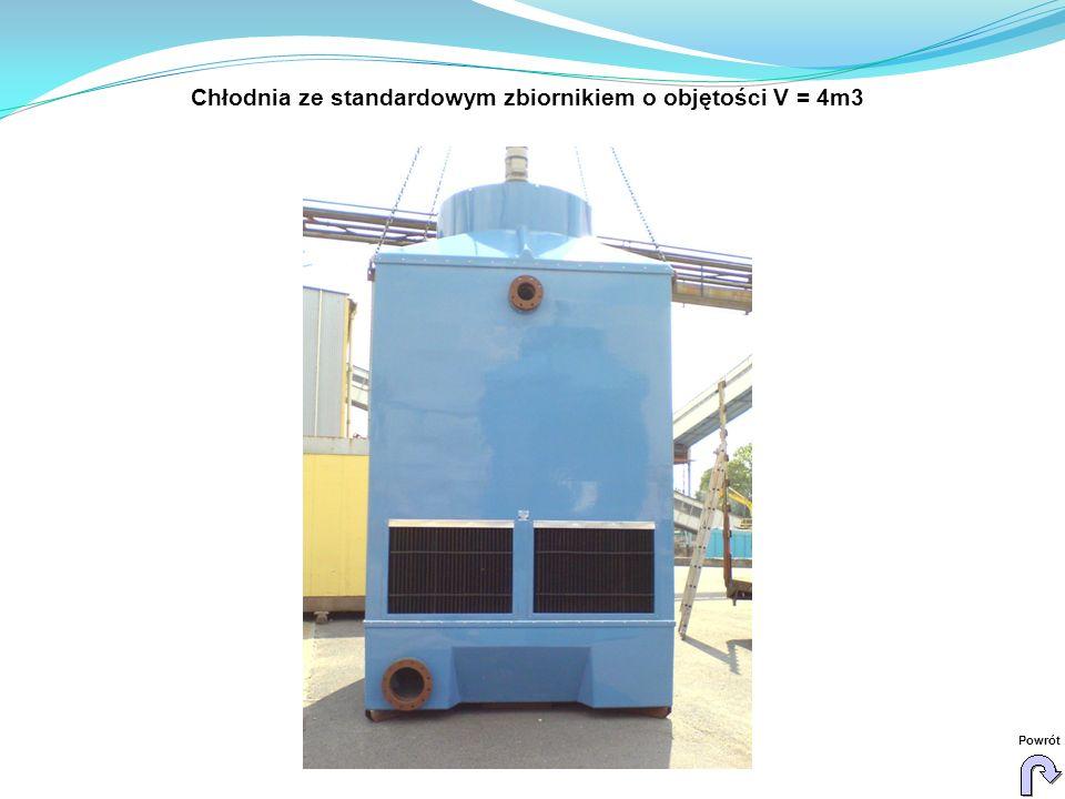 Chłodnia ze standardowym zbiornikiem o objętości V = 4m3