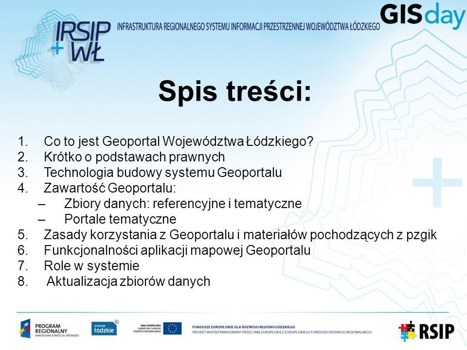 Spis treści: Co to jest Geoportal Województwa Łódzkiego