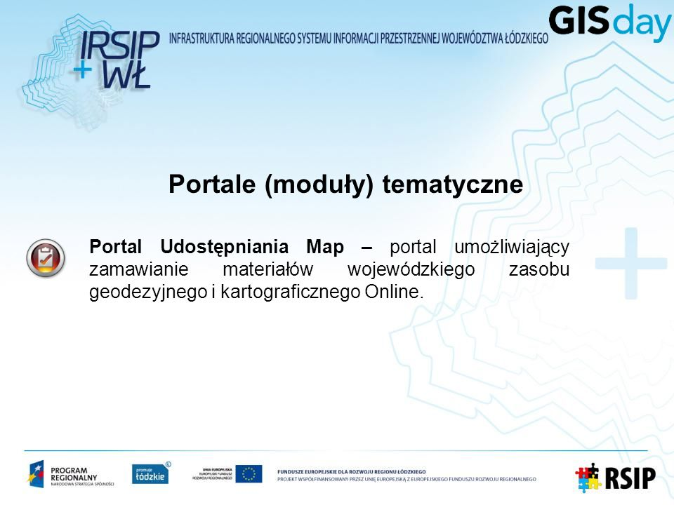 Portale (moduły) tematyczne
