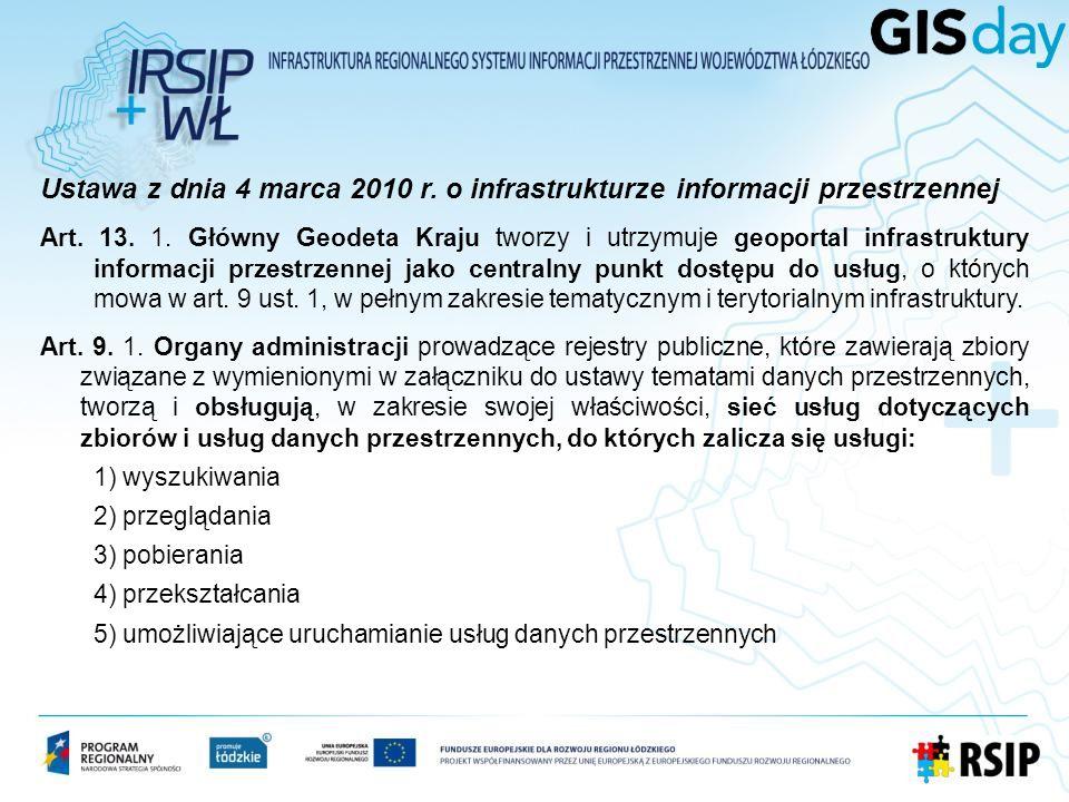 Ustawa z dnia 4 marca 2010 r. o infrastrukturze informacji przestrzennej