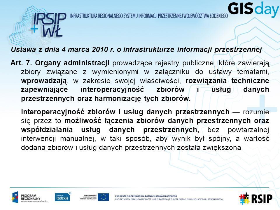 Ustawa z dnia 4 marca 2010 r. o infrastrukturze informacji przestrzennej Art.