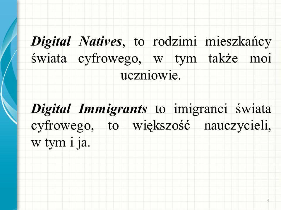 Digital Natives, to rodzimi mieszkańcy świata cyfrowego, w tym także moi uczniowie.