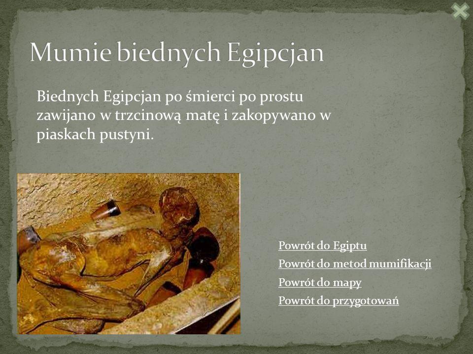 Mumie biednych Egipcjan