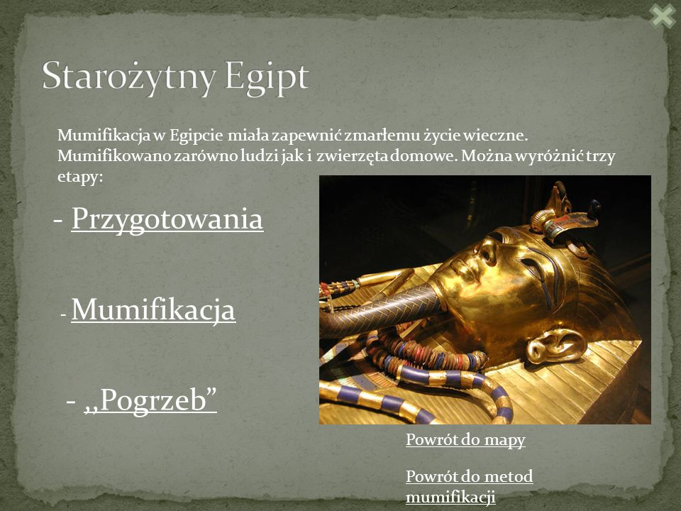 Starożytny Egipt - Przygotowania - ,,Pogrzeb