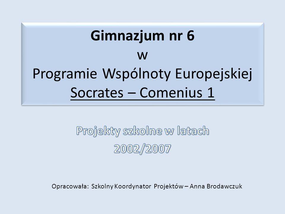 Projekty szkolne w latach 2002/2007