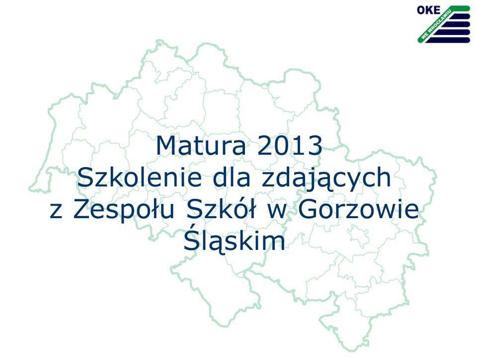 Szkolenie dla zdających z Zespołu Szkół w Gorzowie Śląskim