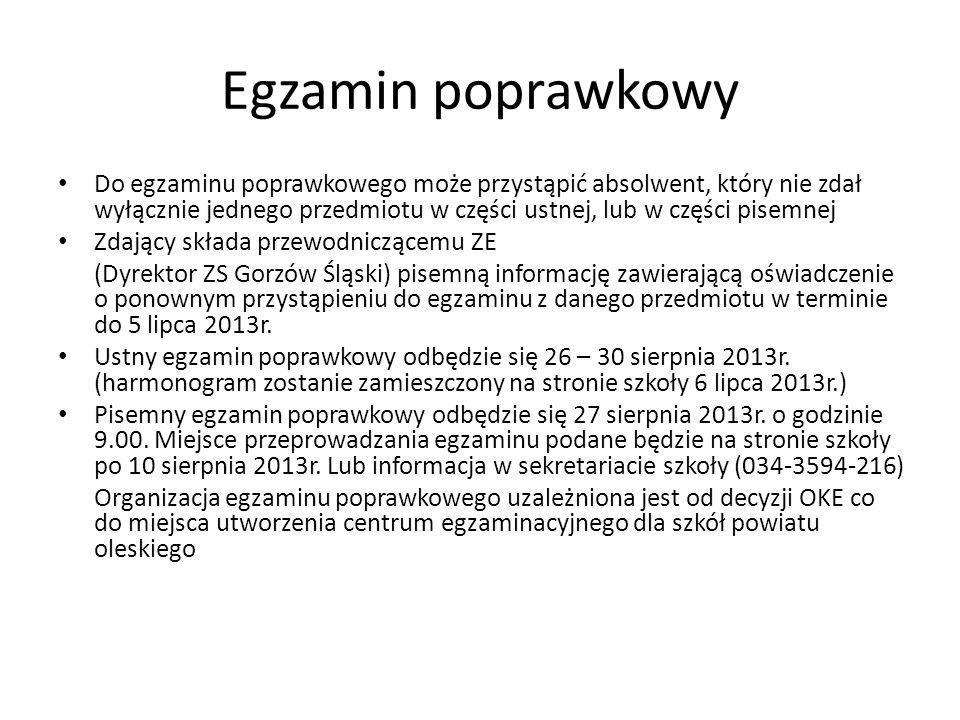Egzamin poprawkowy